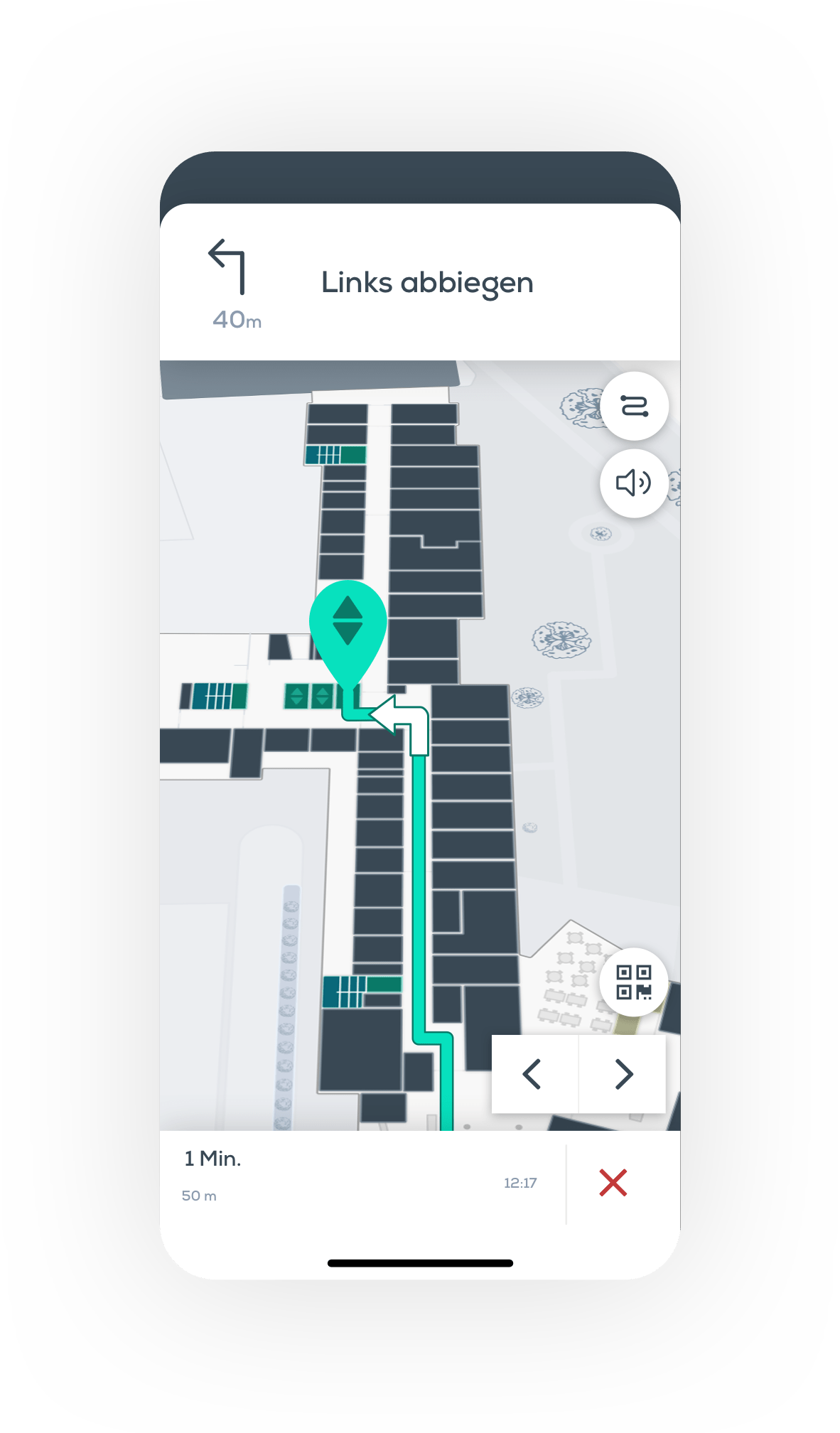 Step-by-Step, Indoor Navigation, Ortung, iBeacon