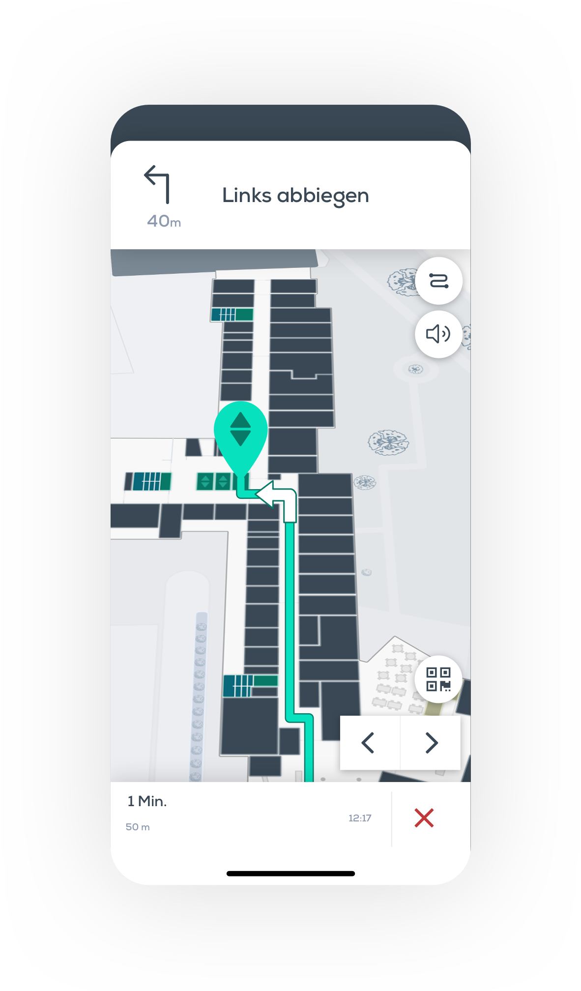 Indoor Navigation live und trackinglos, Indoor GPS