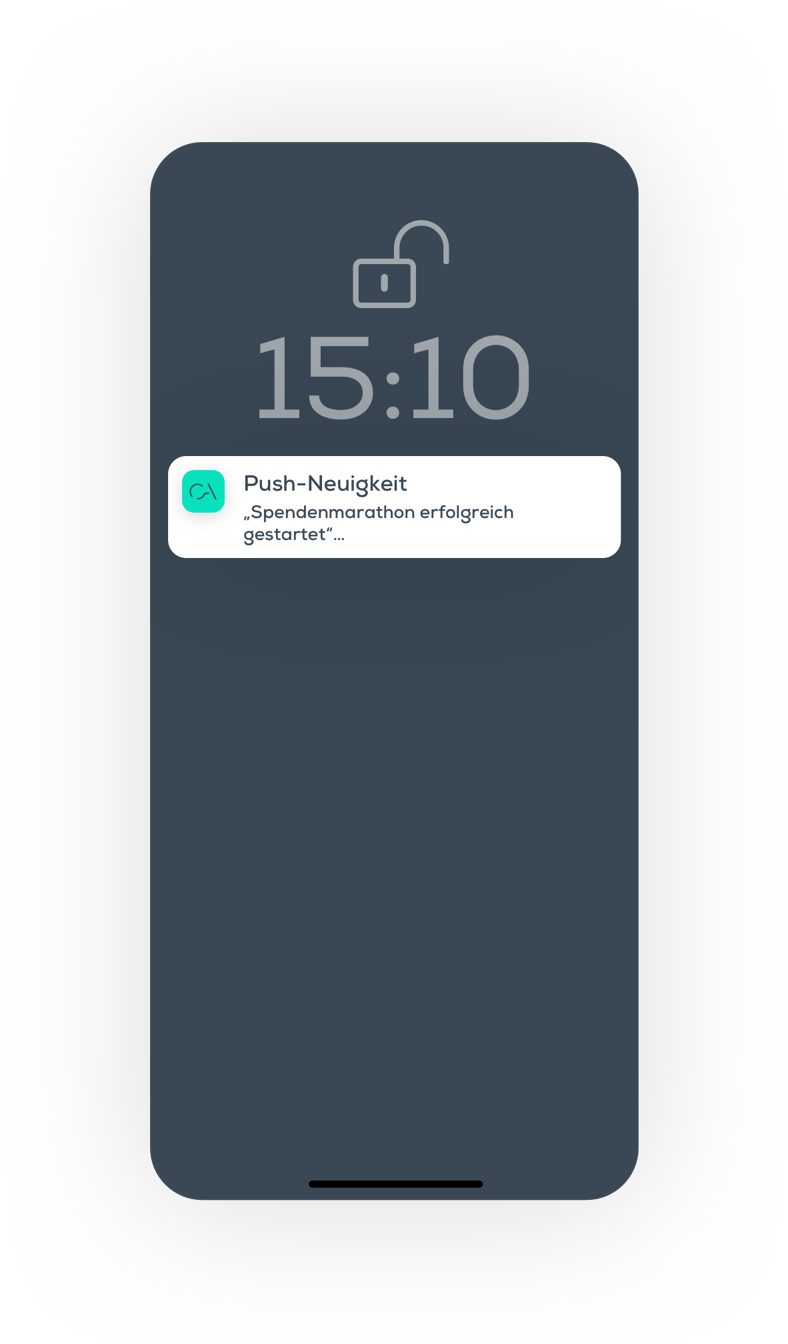 Push, Krankenhaus-App, Klinik App, Nachricht