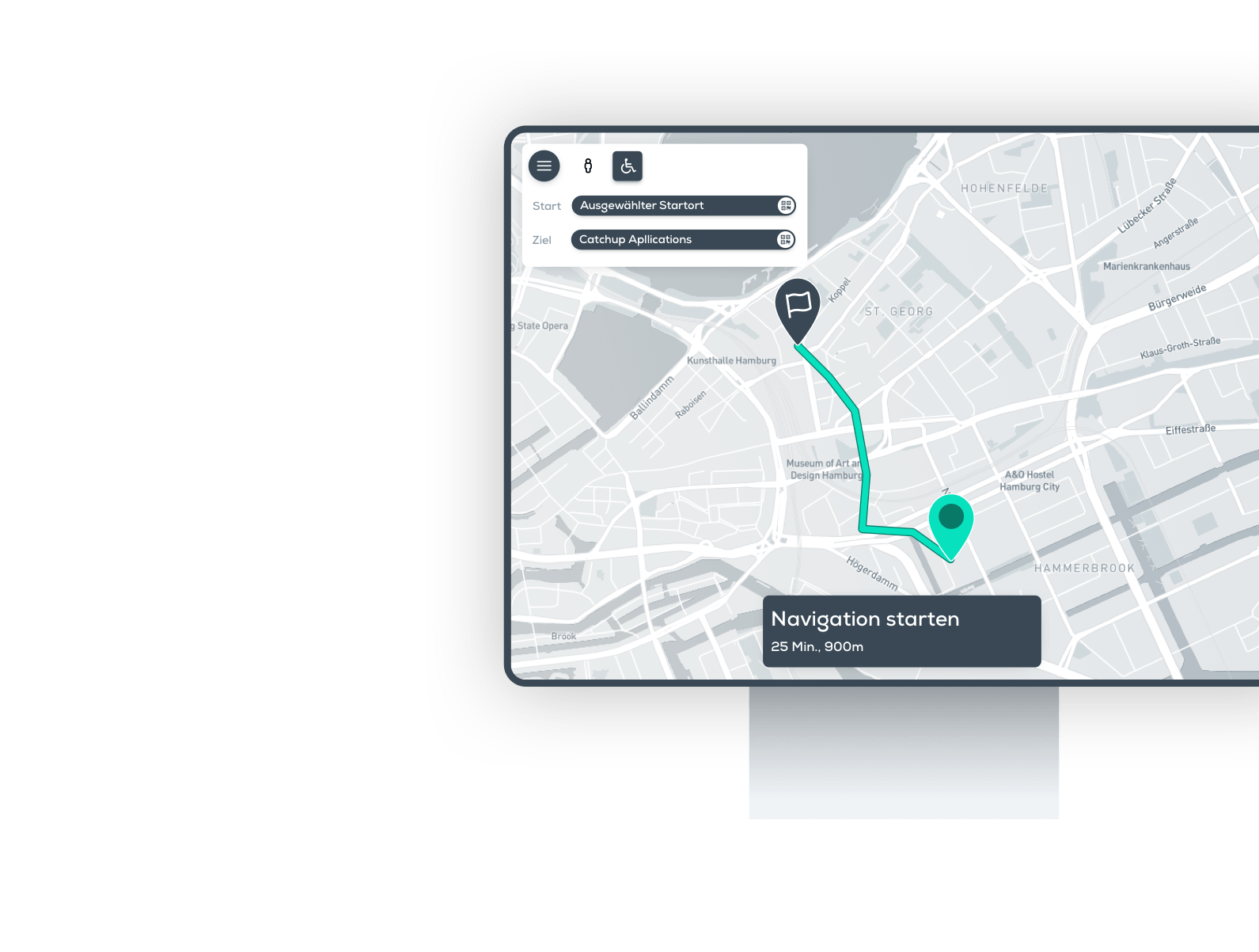 hospital app, navigation